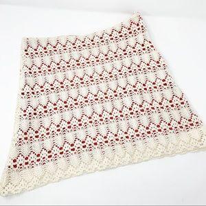 JUDITH MARCH | Crochet Boho Mini Skirt